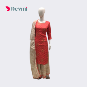 pitch color kurti with skirt