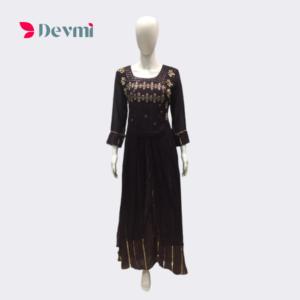 Black Georgette Gown