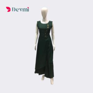 green designer gown